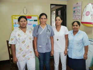 MD and Colleagues at the Cristo Rey Satellite Health Post P1100125