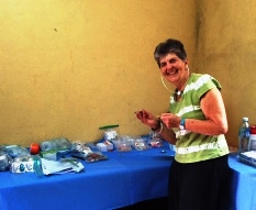 Judith Chasin in clinic in Nicaragua